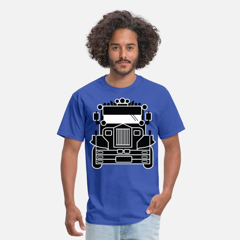 Filipino T-Shirts - Filipino Jeepney by AiReal Apparel - Men's T-Shirt royal blue