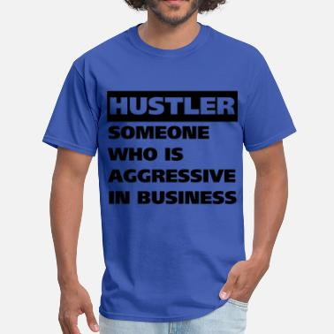 Block Hustler HUSTLER definition - Men's T-Shirt