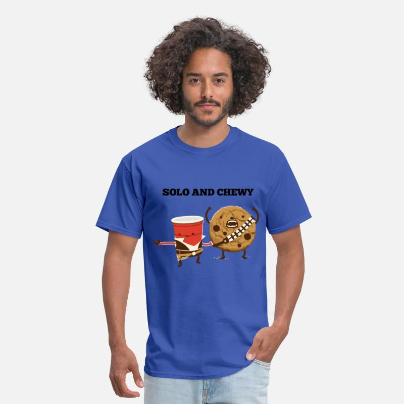 Cool T-Shirts - Funny star wars han solo and chewbacca - Men's T-Shirt royal blue