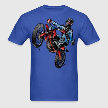 Motocross Dirt Bike Stunt Rider - Men's T-Shirt