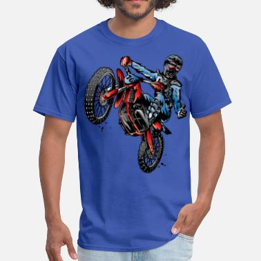 Motorcycle Motocross Dirt Bike Stunt Rider - Men's T-Shirt