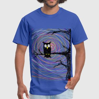 Coconut owl in spooky tree halloween  - Men's T-Shirt