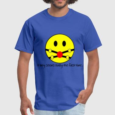 Bdsm Porn Smiley Gag - Men's T-Shirt