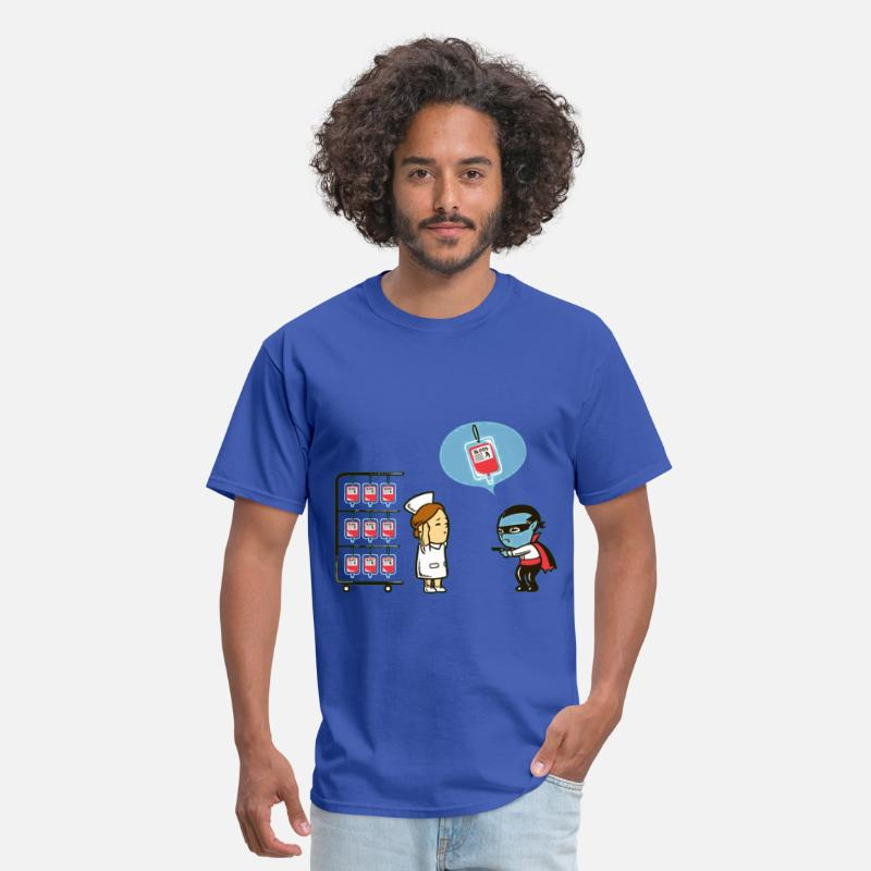 Funny T-Shirts - Lazy Vampire - Men's T-Shirt royal blue