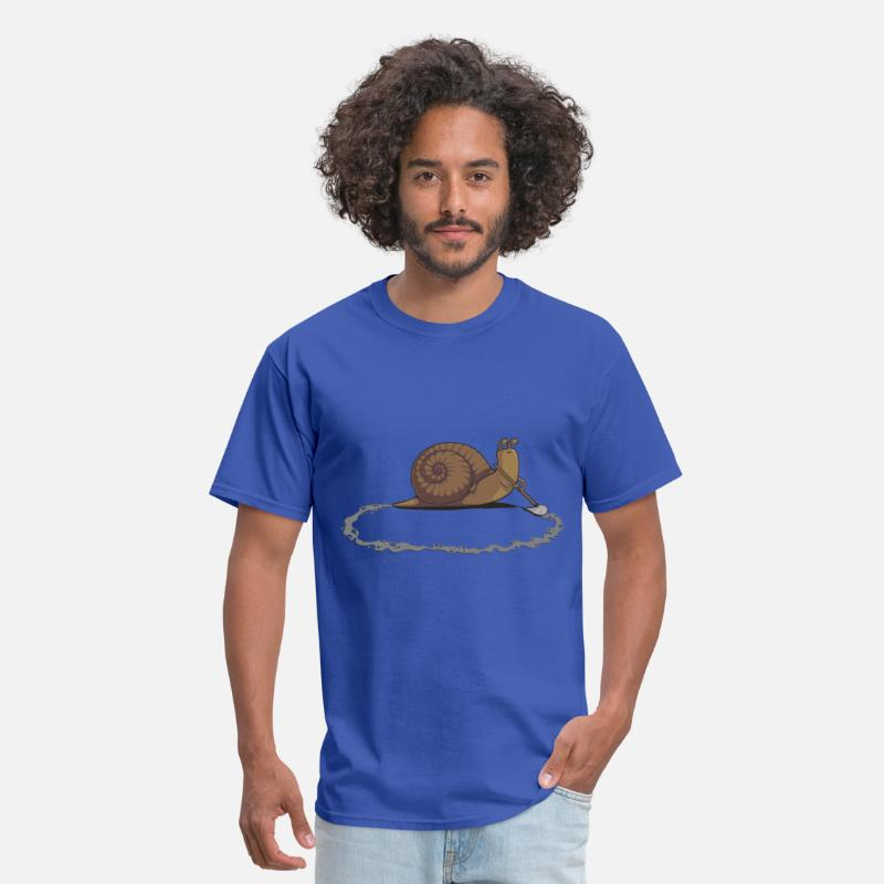 Funny T-Shirts - Clever Snail - Men's T-Shirt royal blue