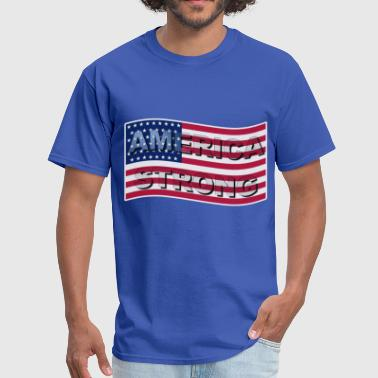 America Strong AMERICA STRONG FLAG WAVE - Men's T-Shirt
