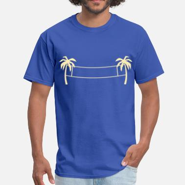 Volleyball Net Beach volleyball,volleyball,beach,beach net, sun - Men's T-Shirt