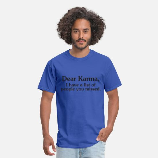 Quotes T-Shirts - Funny karma quote - Men's T-Shirt royal blue