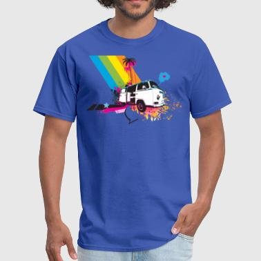 Rainbow and kombi - Men's T-Shirt