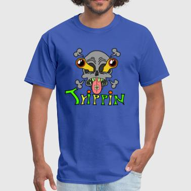 Psychedelic Trip Trippin Design Skull with Trip - Men's T-Shirt