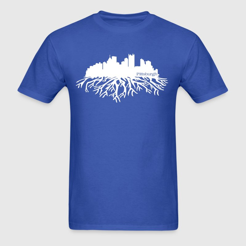 Pittsburgh Skyline Roots Clothing Apparel Shirts - Men's T-Shirt