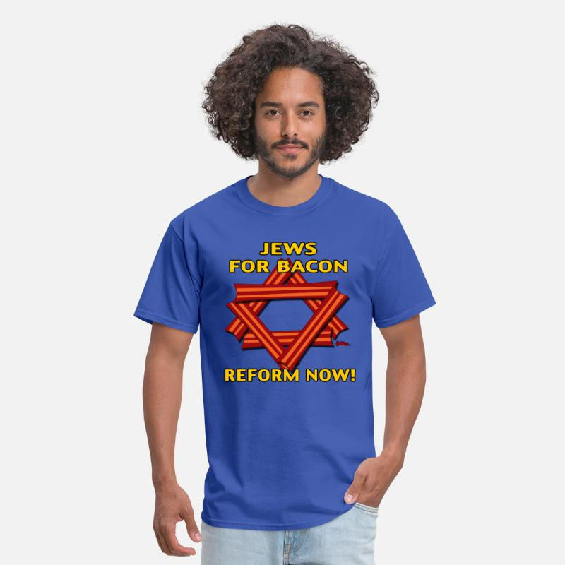 Reformed T-Shirts - Jews For Bacon - Reform NOW! - Men's T-Shirt royal blue