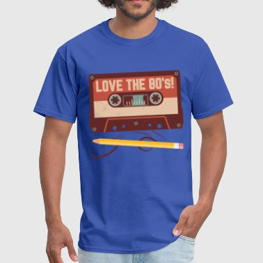 I Love 80s Music Love the 80's Music - Men's T-Shirt