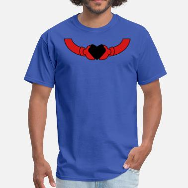 Connected Hearts hands holding heart celtic connection - Men's T-Shirt