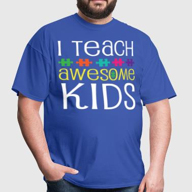 Autism Teacher Awareness Support - Men's T-Shirt