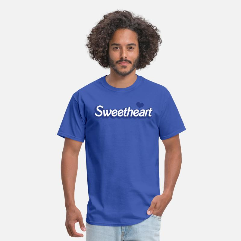 Funky T-Shirts - sweetheart with love heart in barbie font - Men's T-Shirt royal blue