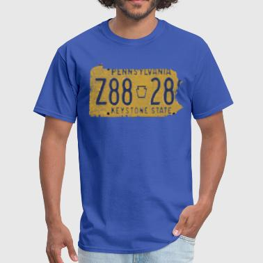 Pennsylvania State License Plate Clothing Apparel  - Men's T-Shirt