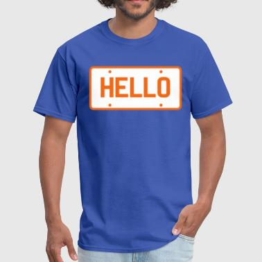 Licence licence plate saying hello - Men's T-Shirt