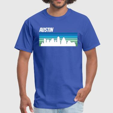 Retro Austin Skyline - Men's T-Shirt