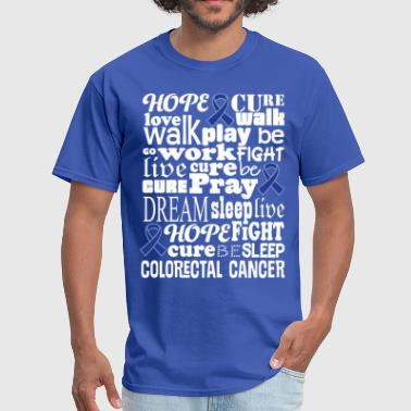 Colorectal Cancer Blue Awareness Ribbon Colon Canc - Men's T-Shirt