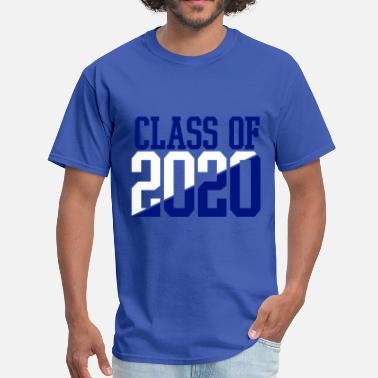2020 CLASS OF 2020 WHITE AND BLUE - Men's T-Shirt