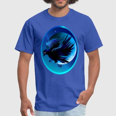 Raven And Moon Raven and Moon Oval  - Men's T-Shirt
