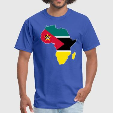 Mozambique Flag Africa Map - Men's T-Shirt