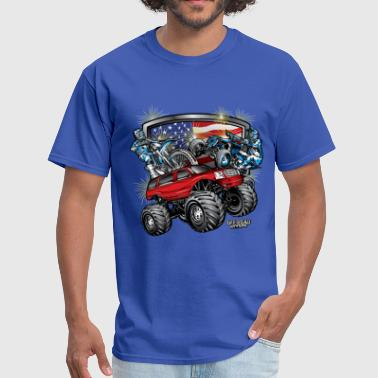 Tank Road Off-Road 4th of July - Men's T-Shirt