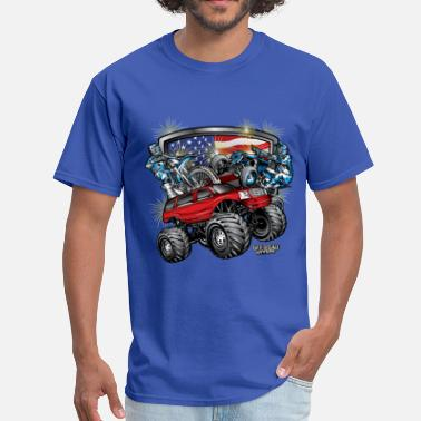 Yamaha Utv Off-Road 4th of July - Men's T-Shirt