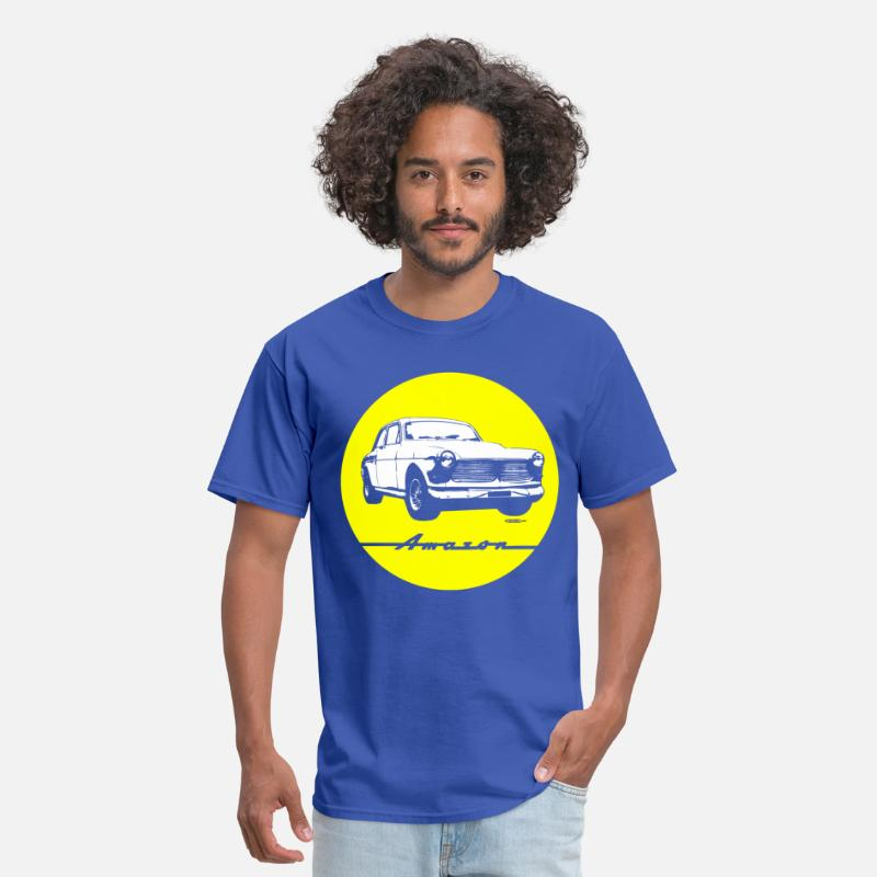 Amazon T-Shirts - Yellow on blue Volvo Amazon tee - Men's T-Shirt royal blue