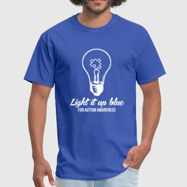 Light It Up Blue - Men's T-Shirt