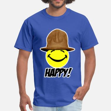 Happy - Pharrell Williams Happy in Pharrell Hat - Men's T-Shirt