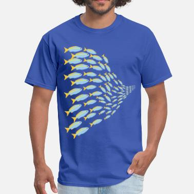 Swarm swarm of fish - Men's T-Shirt