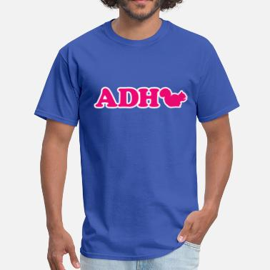 Adhd Jokes ADHD Squirrel - Men's T-Shirt
