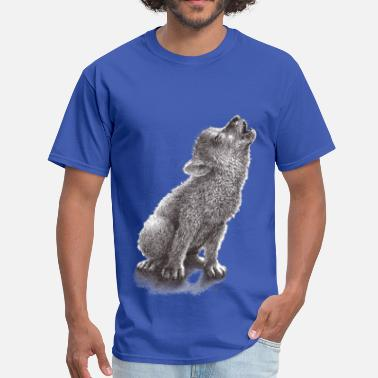 Little Wolf Little Howling Wolf - Men's T-Shirt