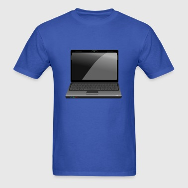 Laptop (Cartoon) - Men's T-Shirt