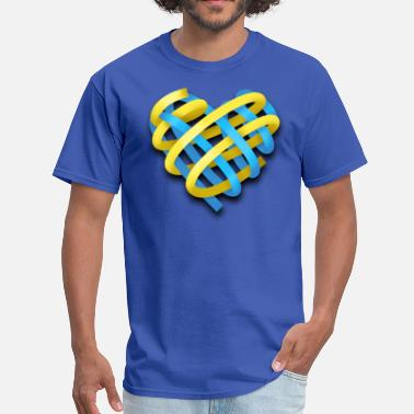 Ukrainian Heart Ukrainian heart - Men's T-Shirt