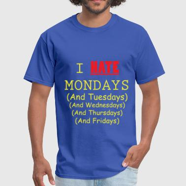 I Hate Weekdays - Royal Blue and Yellow - Men's T-Shirt