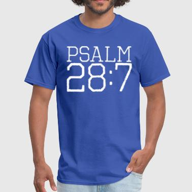 Psalm 28:7 bible verse - Men's T-Shirt