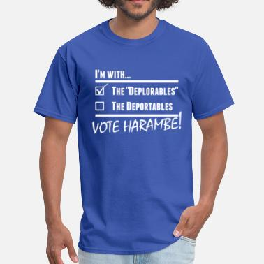 Deplorable Designs Harambe Deplorables - Men's T-Shirt