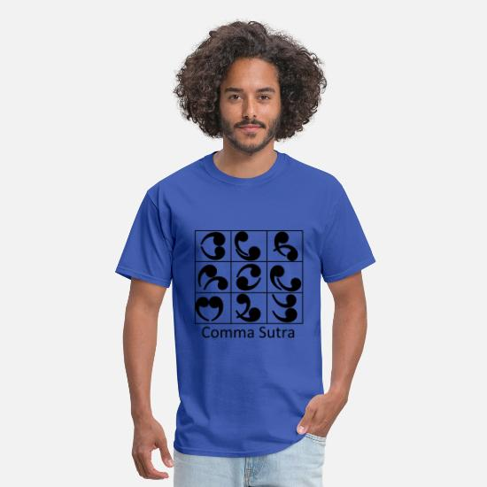Clever T-Shirts - Comma Sutra - Men's T-Shirt royal blue