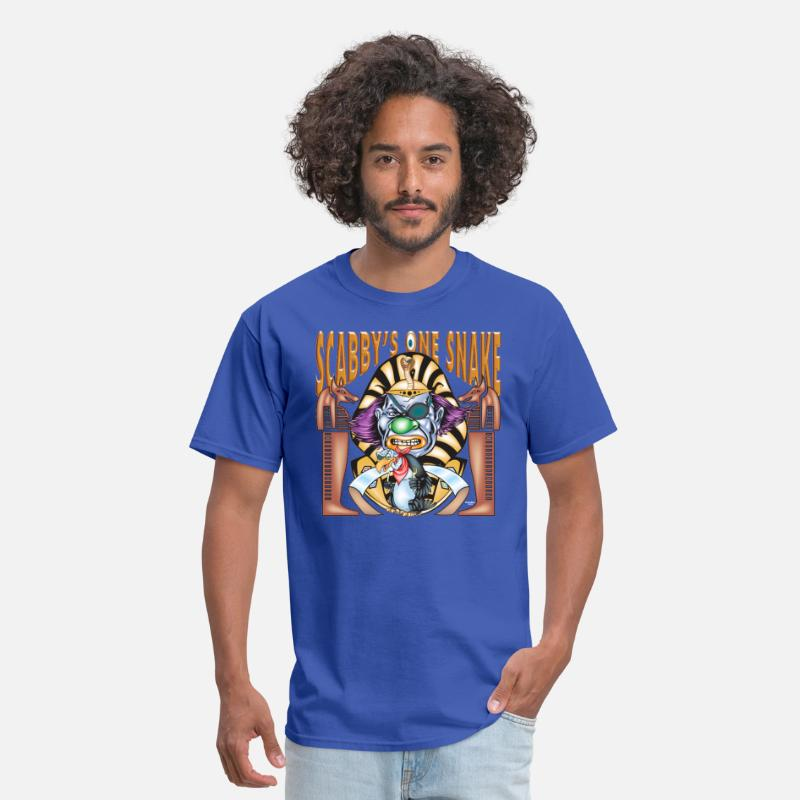 Clown T-Shirts - Evil Clown One Eyed Snake - Men's T-Shirt royal blue