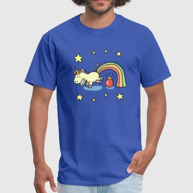 Unicorn rainbow and a pot of gold - Men's T-Shirt