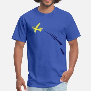 Woohoo airplane & swoosh - Men's T-Shirt
