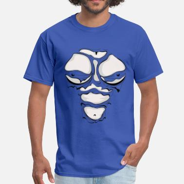 Breast Heroin Ripped Muscles Female Monotone, chest T-shirt, comicbook breasts - Men's T-Shirt