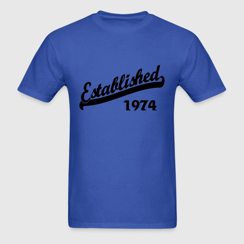 Established 1974 - Men's T-Shirt