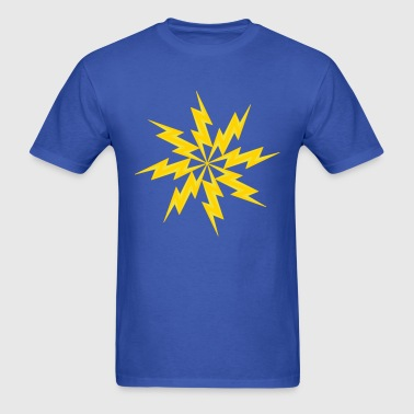 star electric shock danger sign lightning symbol c - Men's T-Shirt