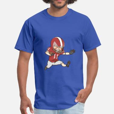 Footballers Cartoon American Football Cartoon 2 - Men's T-Shirt