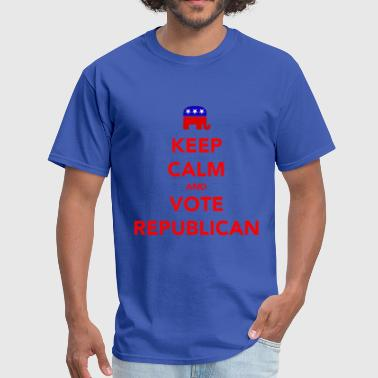 Keep Calm and Vote Republican 2012 Election - Men's T-Shirt