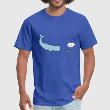 42 The Hitchhikers Guide To The Galaxy Sperm Whale & Petunias - Men's T-Shirt